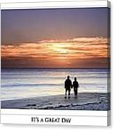 Great Day Poster Canvas Print