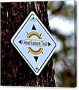 Great Eastern Trail Marker Canvas Print