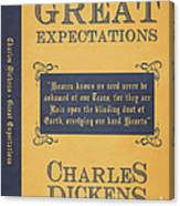 Great Expectations By Charles Dickens Book Cover Poster Art 1 Canvas Print