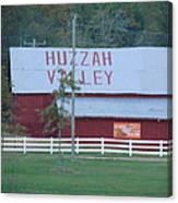 Great Fall View Of Huzzah Barn Canvas Print