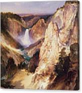 Great Falls Of Yellowstone Canvas Print