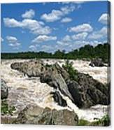Great Falls On The Potomac Canvas Print