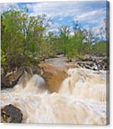 Great Falls White Water #5 Canvas Print