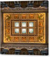 Great Hall Ceiling Library Of Congress Canvas Print