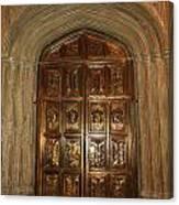 Great Hall Entrance Door Canvas Print