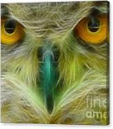 Great Horned Eyes Fractal Canvas Print