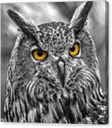 Great Horned Owl V9 Canvas Print