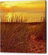 Great Lake Great Sunset 2 Canvas Print