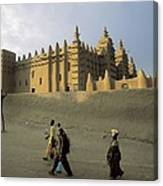 Great Mosque Of Djenn�. S.xiv. Mali Canvas Print