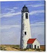 Great Point Lighthouse Nantucket Massachusetts Canvas Print