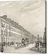 Great Pultney Street, Bath, C.1883 Canvas Print
