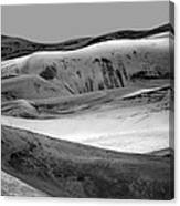 Great Sand Dunes - 1 - Bw Canvas Print