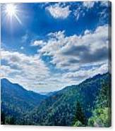 Great Smoky Mountains National Park On North Carolina Tennessee  Canvas Print