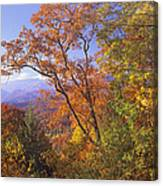Great Smoky Mts From Blue Ridge Pkwy Canvas Print