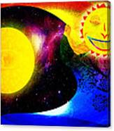 Great Sun Jester And The Night Sky Canvas Print