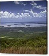 Great View On Top Of Cadilac Mountain Canvas Print
