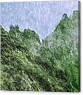 Great Wall 0043 -  Watercolor 2 Sl Canvas Print