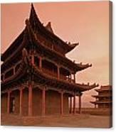Great Wall Pagoda At Sunset Canvas Print