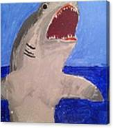 Great White Shark Breaching Canvas Print