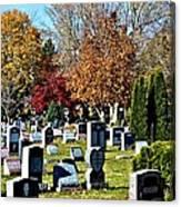 Greece Fall Cemetery Canvas Print