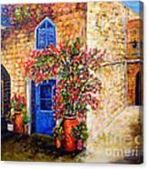 Greek Bouganvillia Canvas Print