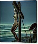 Greek Crucifixion Scene II Canvas Print