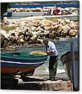 Greek Fisherman Canvas Print
