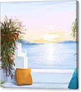 Greek House Canvas Print