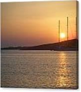 Greek Island Sunset Canvas Print