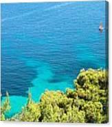 Greek Sea View Canvas Print