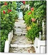 Greek Steps Canvas Print