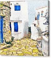 Greek Village 8 Canvas Print