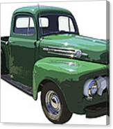 Green 1951 Ford F-1 Pick Up Truck Illustration  Canvas Print