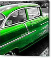 Green 1957 Chevy Canvas Print