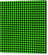 Green And Black Checkered Pattern Cloth Background Canvas Print