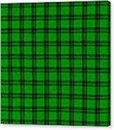 Green And Black  Plaid Cloth Background Canvas Print