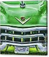Green And Chrome-hdr Canvas Print
