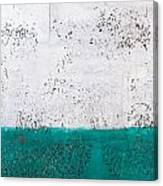 Green And White Wall Texture Canvas Print