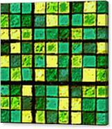 Green And Yellow Sudoku Canvas Print