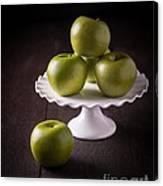 Green Apple Still Life Canvas Print