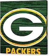 Green Bay Packers Barn Door Canvas Print