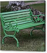 Green Bench Canvas Print