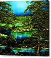 Green Blue Waters-original Sold-buy Giclee  Print Nr 29 Of Limited Edition Of 40 Prints  Canvas Print