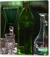 Green Bottle Canvas Print