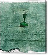 Green Buoy - Barnegat Inlet - New Jersey - Usa Canvas Print