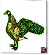Green Canada Goose Pop Art - 7585 - Wb Canvas Print