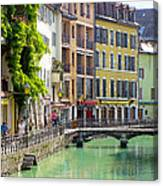 Green Canal Canvas Print