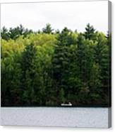 Canoe On Walden Pond Canvas Print
