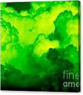Green Clouds Canvas Print