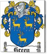 Green Coat Of Arms Irish Canvas Print
